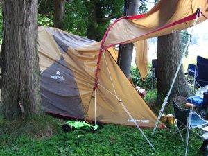 Bad camping spot