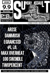 ARISE,  DANMUSH, EGRAHCSID, GARYU, MAX OVERHEAT, 100 SWINDLE, TWOPERCENT