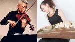 Naoki Kita (violin), Miyama McQueen-Tokita(koto), @ Matsumoto Strings