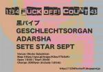 1.2.3.4 Fuck Off! Count43: SETE STAR SEPT, Kuropipe, Geschlechtsorgan, ADARSHA