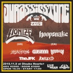 LIONIZE (US), Hoopsnake (CA), 老人の仕事 (Roujin no Shigoto), GUEVNNA, Bahboon, The JFK, AWAKED