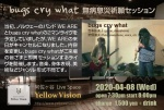 bugs cry what (Yumiko Yoshimoto: daxophone, Michio Karimata: flute, sax, voice, etc.)