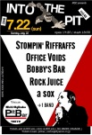 Stompin' Riffraffs,  Rock Juice,  BOBBY'S BAR,  OFFICE VOIDS,  a sox