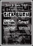 SICK BURN (Sacramento CA), TODESTRIEB, CRUCIAL SECTION, DUSTPAN, プラナリア