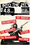 ROCKBOTTOM, THE HAVENOTS, THE KNOCKS, LITTERS, HATEMAN, the Weekpoints