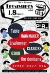 Table, Lisaloomer, the denisons, RAINMAKER, 03OOI, CLASICKS, インフォメーションノーネイム