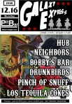 NEIGHBORS, Pinch of Snuff, LOS TEQUILA COKES, DRUNKBIRDS, HUB, BOBBY'S BAR