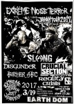 EXTREME NOISE TERROR, SLANG, DISGUNDER, BUTCHER ABC, CRUCIAL SECTION, REALITY CRISIS
