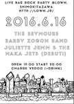 Juliette Jemm & the Naka Jets, Barry Zogon Band, The Seymours