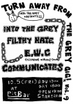 COMMUNiCATES, INTO THE GREY, FILTHY HATE, EXISTENCE WITHOUT CAUSE