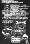 INSTINCT OF SURVIVAL, ASOCIAL TERROR FABRICATION, ZIKADE, THE SAVAGES, COFFINS, SOLVENT COBALT, more