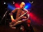 Junji Hirose (tenor sax), Toshimaru Nakamura (no-input mixing board), Darren Moore (drums)