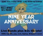 NEET SPIRIT 90s Music Night - 9 Year Anniversary