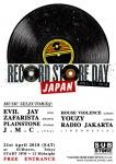 RECORD STORE DAY: DJs Evil Jay, Zafarista, Plainstone, J.M.C., House Violence, Youzy, Radio Jakarta