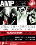 CRY, Marla, Creep Down, Mana, Bob Dizzi